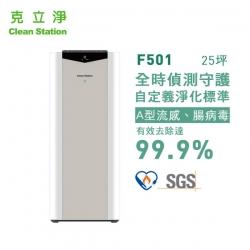 F501【克立淨】全時偵測空氣清淨機(15~25坪)